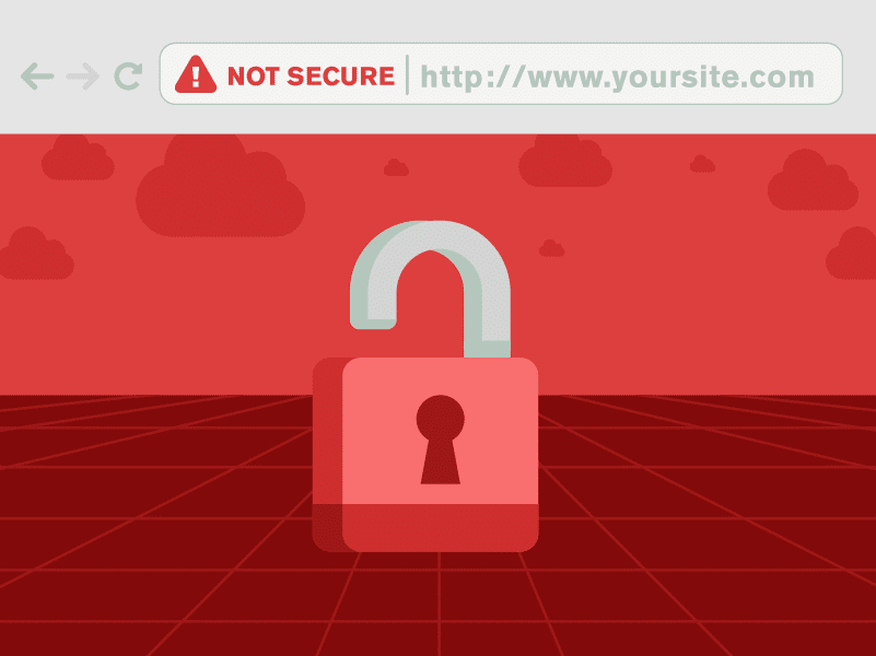 In Google Chrome's update in October, Chrome 70 will be showing HTTP websites are not secure.