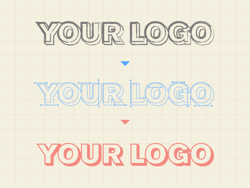 Your logo begins as a sketch, and ends up a fully scaleable vector once the process is completed. This ensures you logo can display at any size, no matter how big or small.