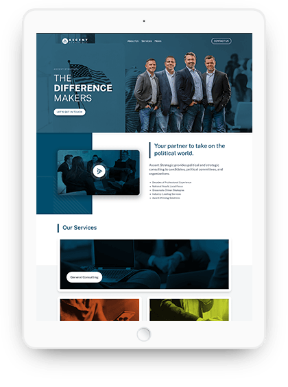 We are ateam of senior-level creatives who love designand going the extra mile for our clients. Our creative team takes a holistic approach to everything that's placed on your website. We believe the design chain is no stronger than its weakest link. That's why we hand-craft graphics and assets to ensure they are 100% unique to your brand.